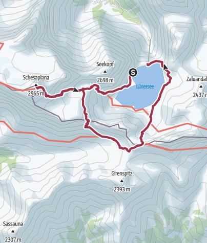 Map / Totalphütte-Schesaplana-Gamsluggen-Gafalljoch-Douglashütte