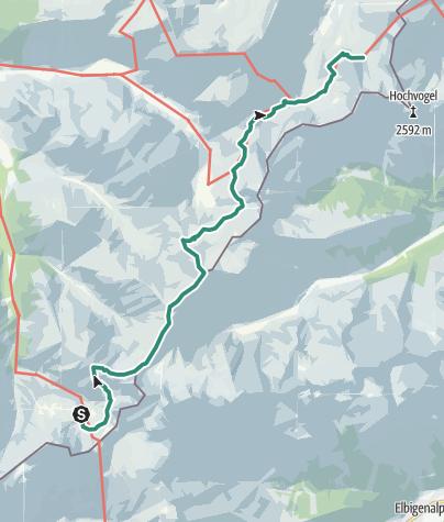 地图 / Über Kreuzeck und Rauheck zum Prinz-Luitpold-Haus (Etappe 5 der großen Allgäu Durchquerung, sportliche Variante)
