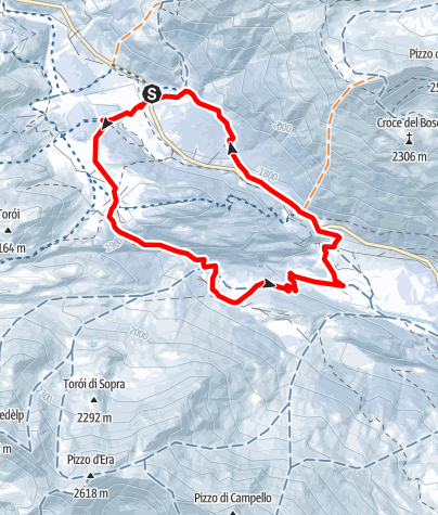 Map / Selva Secca Lukmanierpass, Rundtour