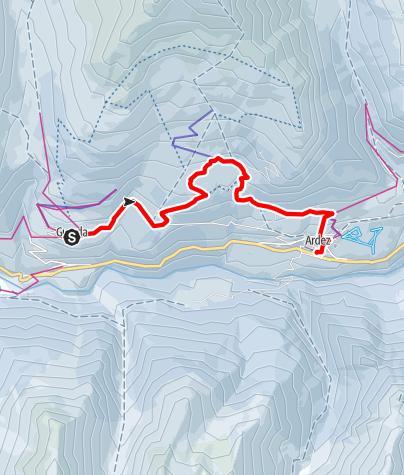 Map / Höhenwanderweg Guarda – Bos-cha – Munt - Ardez