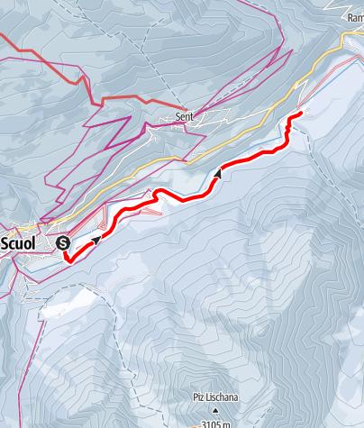 Map / Dem Inn entlang: Scuol – Sur En