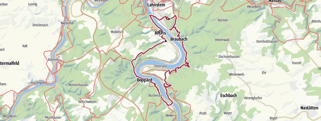 Karte / Wanderung am 12. August 2019 Kleiner Nachtmarsch