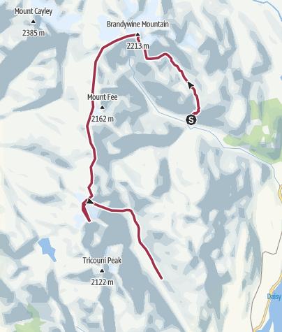 Map / Semi-alcoholic traverse