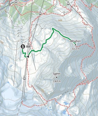 Karte / Saas Fee - Mittaghorn
