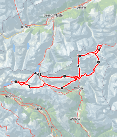 Karte / Tessin-Rundtour - Giro in Ticino