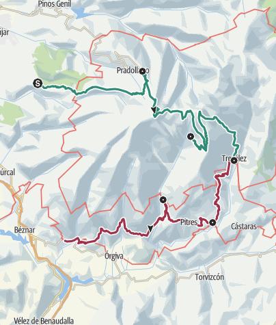 Karte / Über die Sierra Nevada und durch die Alpujarra (Etappentour)