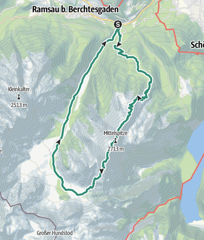 Map / Watzmannüberschreitung