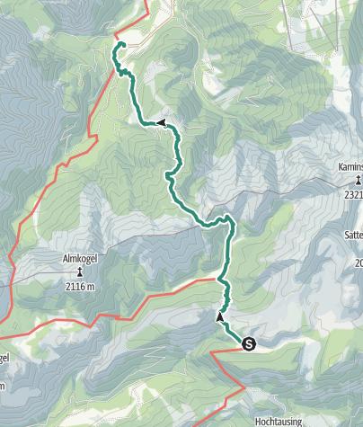 Karte / Hochmöbling Hütte über Türkenscharte zum Dietlgut