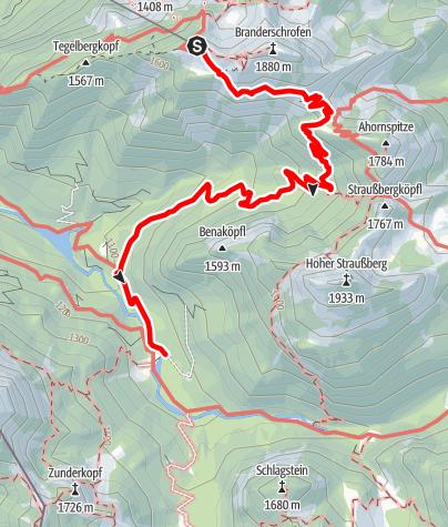 Karte / Vitaltour 11: Von der Tegelberg-Bergstation zur Bleckenau