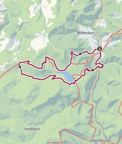 Map / Forbach - Schwarzenbach Talsperre - Badener Höhe - Nationalpark