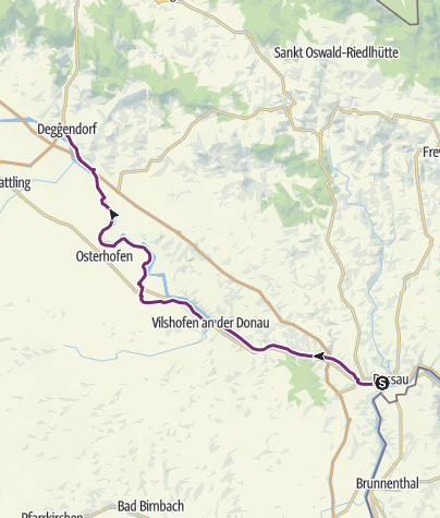 Karte / Schleifenroute DE Passau - Deggendorf Etappe 46