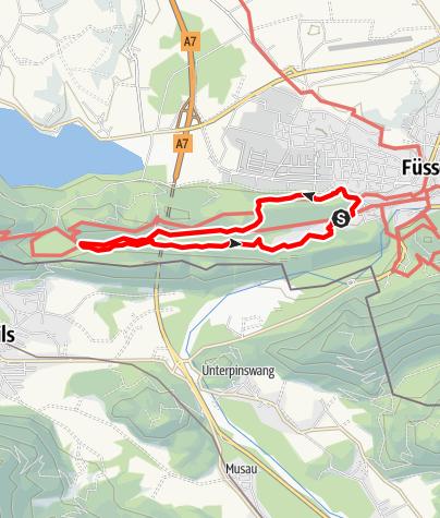 "Karte / Vitaltour 15: ""Tal der Sinne"" bei Bad Faulenbach"