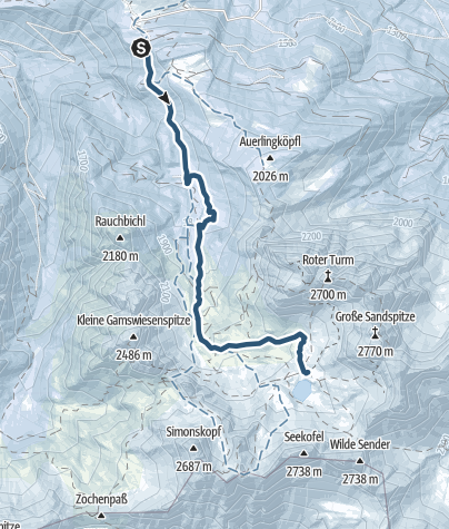 Karte / Von der Lienzer Dolomitenhütte hinauf zur Karlsbader Hütte