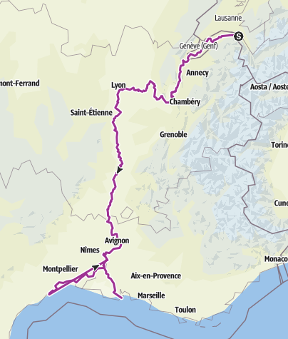 Karte / Tour aus GPX-Track am 24. August 2019