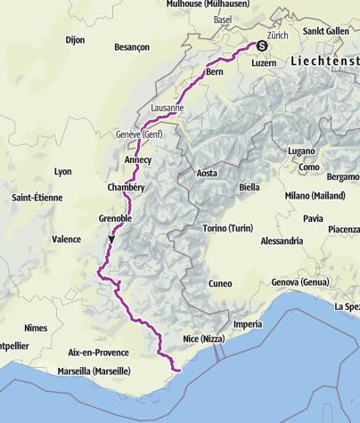 Karte / Velowoche Gesamt