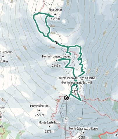 Sizilien Karte ätna.ätna Süd 3300m Sizilien 2 Bergtour Outdooractive Com