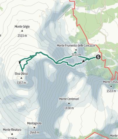 Sizilien Karte ätna.ätna No Krater Pizzi Deneri Sizilien 4 Bergtour Outdooractive Com