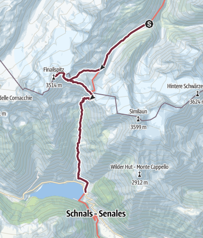 Map / MartinBuschHuette-VernagtMera