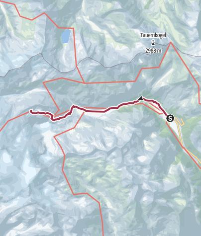 Karte / Hüttentour am Großvenediger - Etappe 1