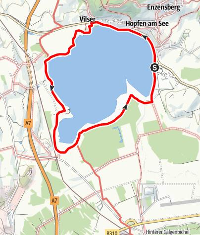 Karte / Vitaltour 12: Hopfenseerundweg
