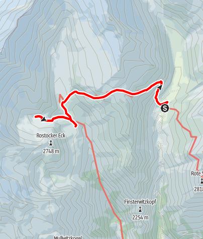 Karte / Hüttentour am Großvenediger - Etappe 3