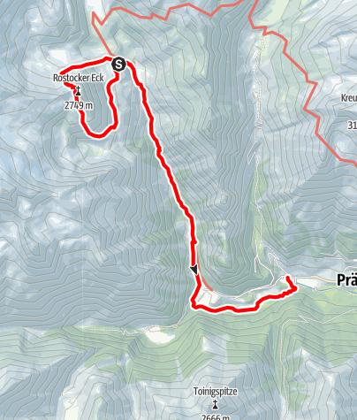 Karte / Hüttentour am Großvenediger - Etappe 4