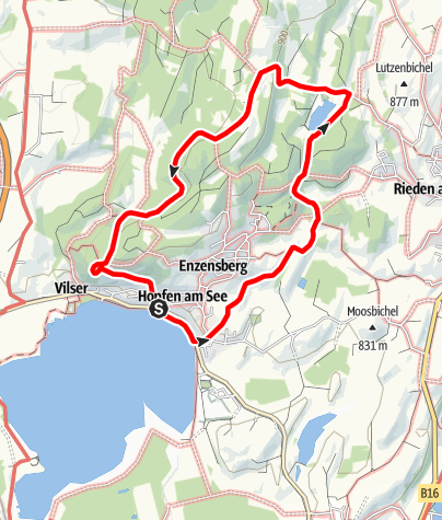 Karte / Vitaltour 14: Rundweg von Hopfen zum Faulensee
