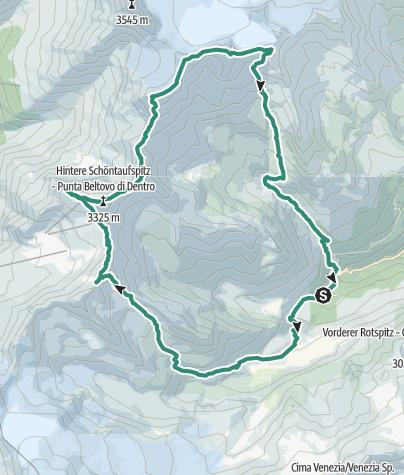 Hartă / Laas-Marteller-Kamm mit acht Gipfeln
