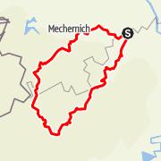 Karte / Eifel Motorradtour: Am höllischen Feuer