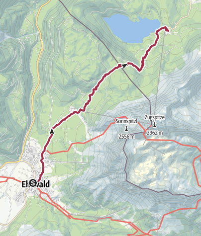Karte / Ehrwald über Eibsee nach Garmisch