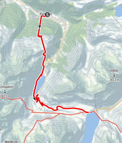 Karte / energie.wege - Route 3: Partenen - Trominier - Vermunt - Silvretta-Bielerhöhe (ab Vermuntsee möglich)