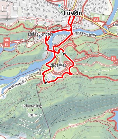 Karte / Vitaltour 7: Zum Walderlebniszentrum Ziegelwies (Talvariante)