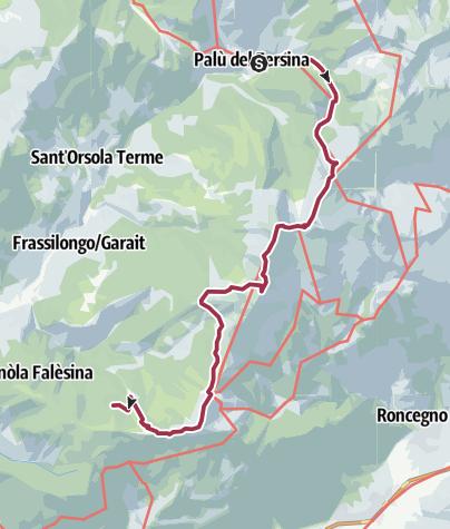Karte / Bozen-Levico: 6 Palù del Fersina-Vetriolo