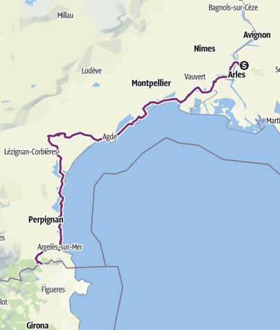 Cartina / EuroVelo 8_Beaucaire_Perthus