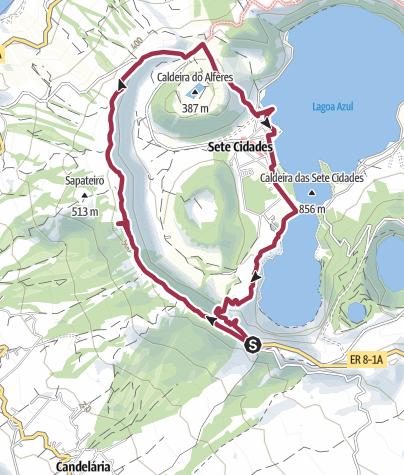 Karte / Sete Cidades, Azoren 3