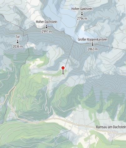 Dachstein Karte.Talstation Der Dachstein Gletscherbahn Bergbahnstation
