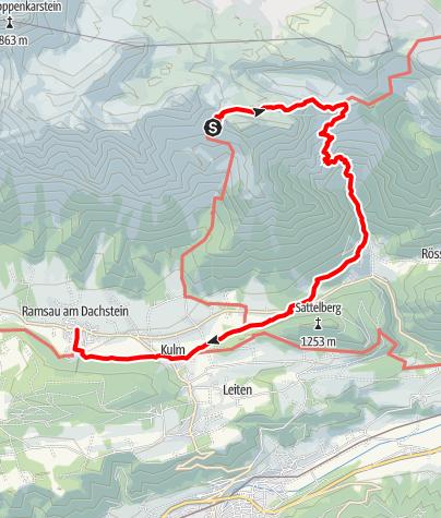 Karte / Dachsteinrundwandweg Etappe 3