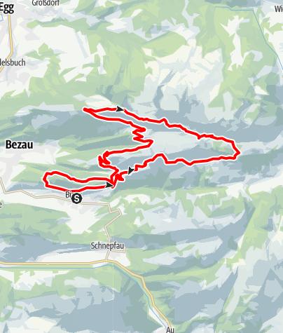 Karte / Bizau | Traillauf