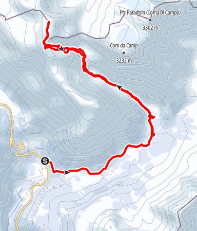 Karte / Piz Ursera, Aussichtsgipfel vor den Berninagrößen