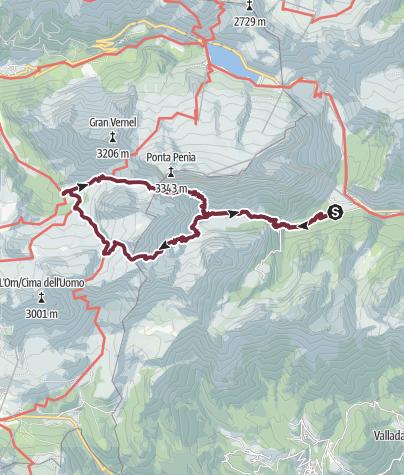 Mappa / Giro delle Cime d'Ombretta