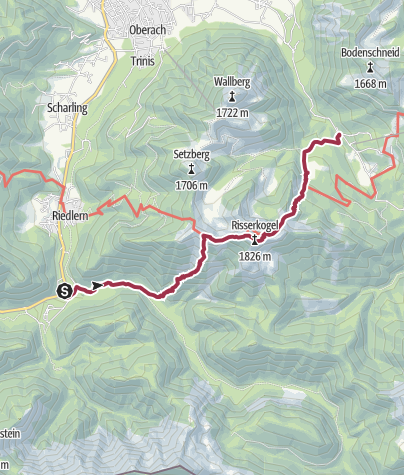 Map / Risserkogel (from Wildbad Kreuth to Rottach-Egern)