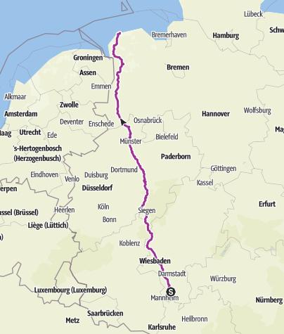 Karte / Tourenplanung am 28.09.2019 21:51:55