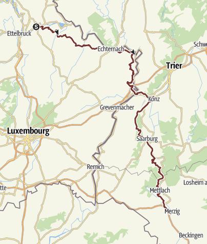 Map / Diekirch tot Merzig 109.4