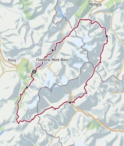 מפה / Tour du Mont Blanc