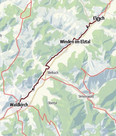 Karte / Jakobsweg nach Burgund - 8. Etappe