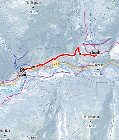 Map / Von Lavin über Gonda nach Guarda