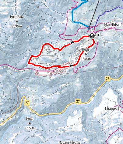 Map / Rundwanderung um den Muot Pednal Ftan – Pignai