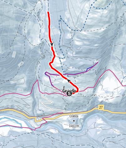 Map / Guarda – Alp Suot (retour)