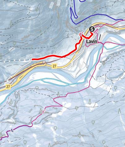 Map / Rundwanderung Lavin - Sagliains