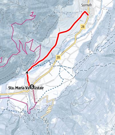 Karte / Sonnenweg Sta. Maria - Müstair
